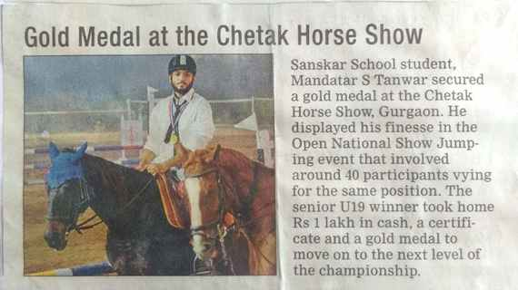 Gold Medal at the Chetak Horse Show